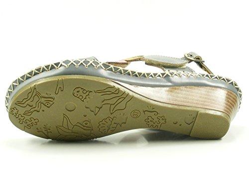 Laura Vita Sm901-6 Vannes Scarpe Da Donna Zeppa Sandali Grigio