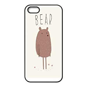 IPhone 5,5S Cases Cute Bear, Iphone 5s Cases For Teen Girls Protective - [Black] Kweet