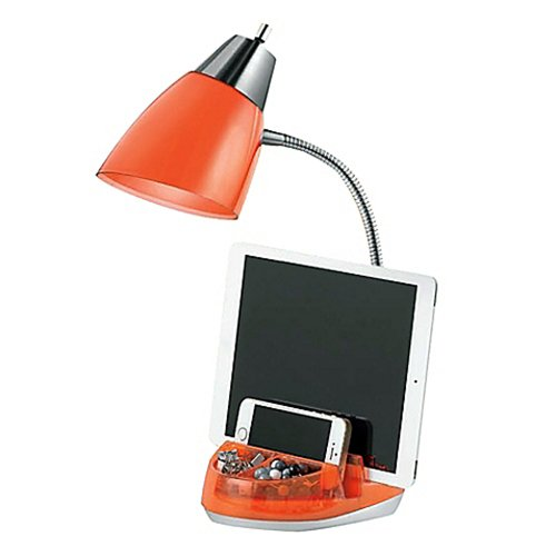 Tablet Organizer CFL Desk Lamp (Orange)