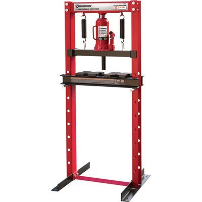 Strongway Hydraulic Shop Press - 12-Ton Capacity by Strongway