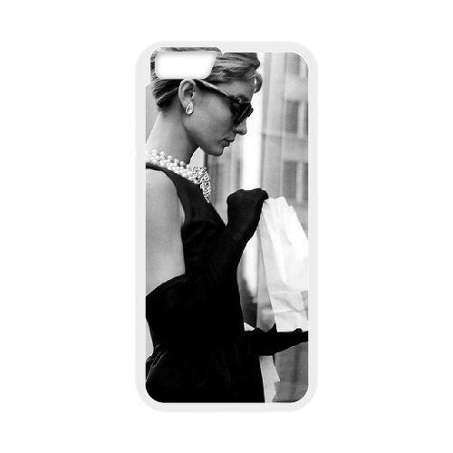 Audrey Hepburn coque iPhone 6 4.7 Inch Housse Blanc téléphone portable couverture de cas coque EBDOBCKCO13312