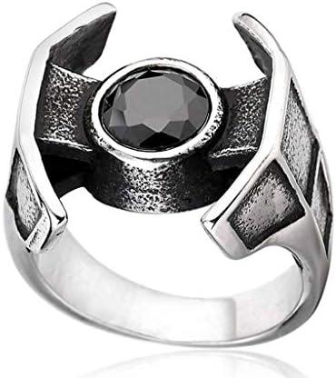 リング 宝石で設定,性別 チタン鋼 人 シンプルな パーティー ダンスパーティー リング-A-8