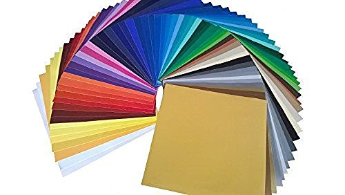 "ORACAL Oracal-651-61 Starter Pack 651 12"" X 12"" Self Adhesive Vinyl Sheets. (61 Colors). for Cricut, Silhouette Cameo, Craft Cutters, Assortment from ORACAL"