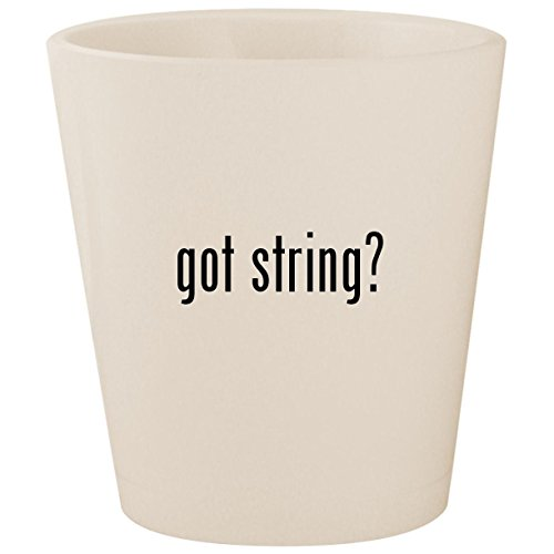 got string? - White Ceramic 1.5oz Shot Glass (Band Foghorn String)