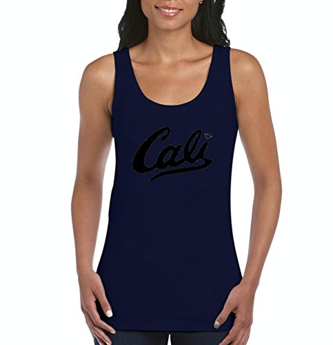 Mom's Favorite California Tank Top Cali In Black Home Of Los Angeles Hollywood Santa Monica CA Womens Tops