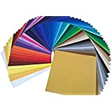 "ORACAL Oracal-651-61 Starter Pack 651 12"" X 12"" Self Adhesive Vinyl Sheets. (61 Colors). for Cricut, Silhouette Cameo, Craft Cutters, Assortment"
