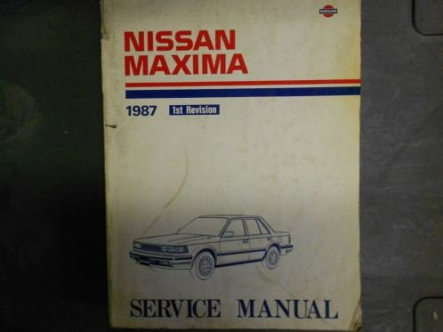 1987 Nissan Maxima Service Repair Shop Manual 1st Revision Factory OEM Book 87
