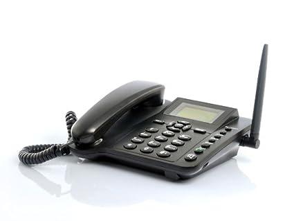 Amazon com : Wireless GSM Desk Phone - Quadband, SMS function