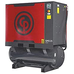 - Chicago Pneumatic Quiet Rotary Screw Air Compressor with Dryer - 25 HP, 230 Volts, 3 Phase, Model# QRS25HPD