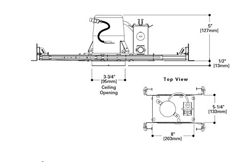 HALO Recessed H36TAT Housing Non-Ic Air-e Shallow Ceiling ... on