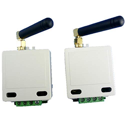 (Eletechsup 433mhz 1km Long Distance UART RS485 UART Wireless Transceiver Module RF Serial Port Data Passthrough Board for PTZ Modbus)