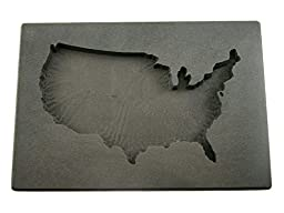 Custom USA Gold Bar 20oz High Density Graphite Mold Silver 15oz Copper U.S.A.