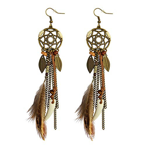 Women's Brown Feather...