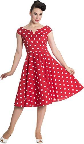 weißen Damen Nicky Punkte mit Kleid Bunny Dots Rot Hell 6wvq7