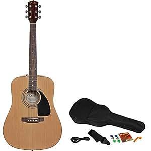 fender fa 200 acoustic electric guitar starter pack natural musical instruments. Black Bedroom Furniture Sets. Home Design Ideas