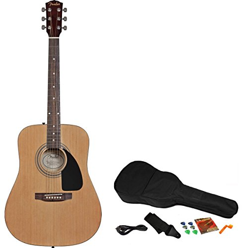 fender fa 200 acoustic electric guitar starter pack natural buy online in uae fender. Black Bedroom Furniture Sets. Home Design Ideas