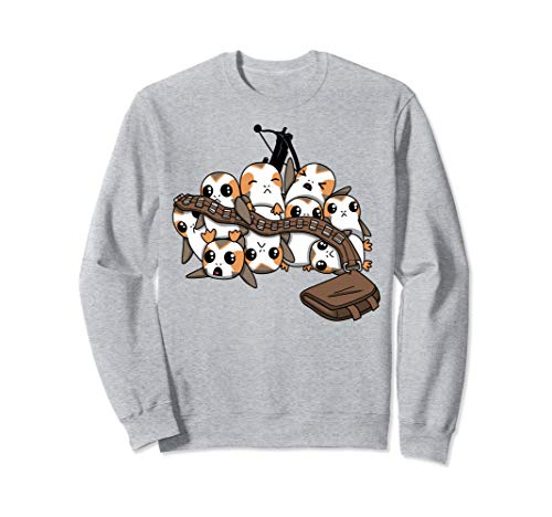 Star Wars Porgs Playing With Chewbaccas Things Portrait Sweatshirt]()