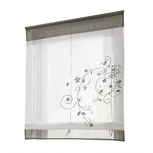 (❤Ywoow❤❤ , Newest Roman Blinds Embroidery Tulle Short Shade Pastoral Room Window)