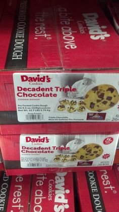 David's Cookies: Decadent Triple Chocolate Cookie Dough 45/4.5 Oz by David's Cookies