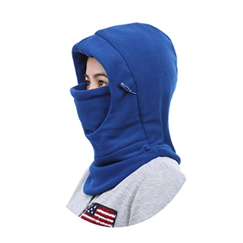 [Children's Winter Windproof Cap Thick Warm Face Cover Adjustable Ski Hat (Blue)] (Kids Face Mask)