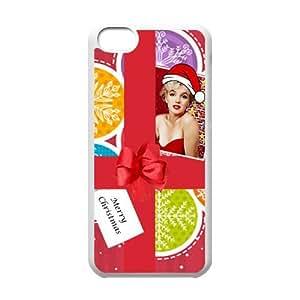 Yedda DIY Design Merry Christmas Marilyn Monroe gifts custom Especial Durable Hard Plastic Case Cover Fits Apple Iphone 5C