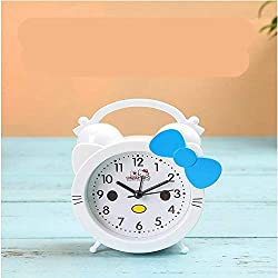zhenxin Alarm Clock Digital Alarm Clock Arrival Creative Cute Hello Kitty Cartoon Alarm Clock Silent Child Student Small Alarm Clock
