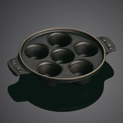 Staub Escargot Dish, Black Matte, 5.75