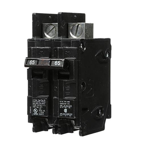 Siemens BQ2B065L 65-Amp Double Pole 120/240-Volt 10KAIC Lug In/Lug Out Breaker ()
