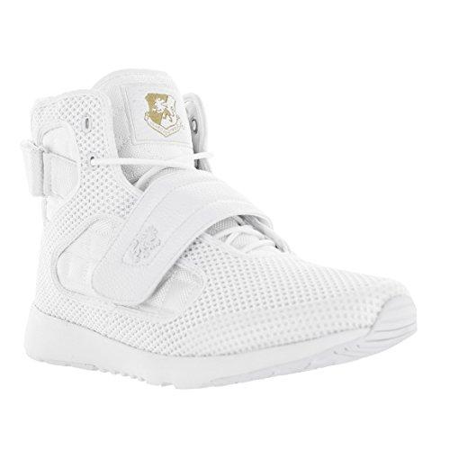 Vlado Schoeisel Heren Atlas 2 Microfiber & Cordura Hoge Top Van Bourgondië / Witte Sneakers Wit Mono