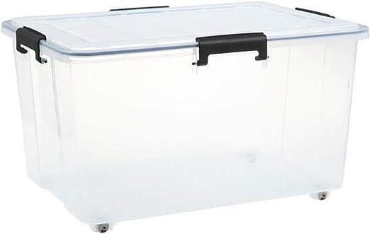 RANRANJJ De Almacenamiento de plástico, Caja de almacenaje con ...