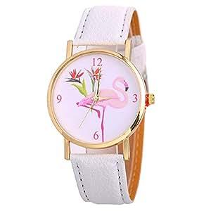 Relojes de pulsera de moda para mujer, con correa de piel sintética y números arábigos
