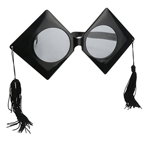 (Prettyia Novelty Fun Large Graduate Trencher Cap Sunglasses Party Props Cosplay Graduation Hat Eye Glasses Photo Booth)