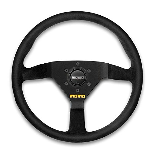 Momo Black Leather - Momo Mod. 78 Steering Wheel R1909/35L (350mm Diameter, Black Leather)