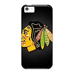 Durable Defender Cases Case For Iphone 5C Cover PC Covers(chicago Blackhawks)