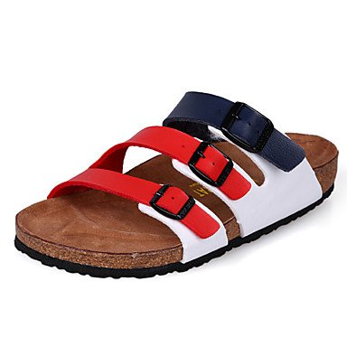 Sandalias de verano zapatos de hombre casual zapatillas Negro / amarillo / Rojo / Blanco Rojo