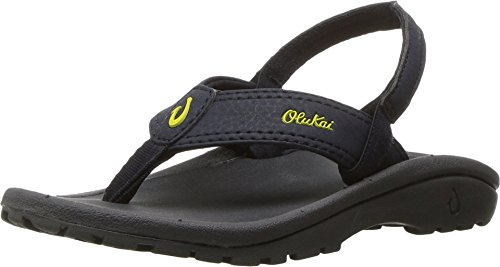 OLUKAI New Ohana Boys Flip Flop Trench Blue/Dark Shadow 11/12 ()