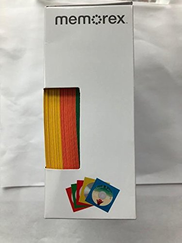 MEMOREX 5-Color (Blue/GRN/RED/Org/YEL) Paper CD/DVD SLEEVE-600/CS