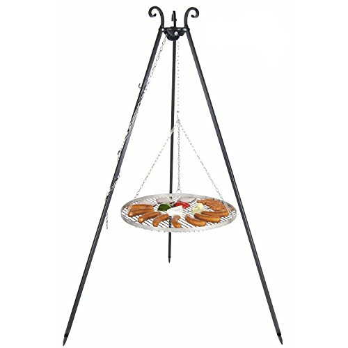 Three Legged Hanging Grill with 70cm stainless steel cooking Grill Farmcook