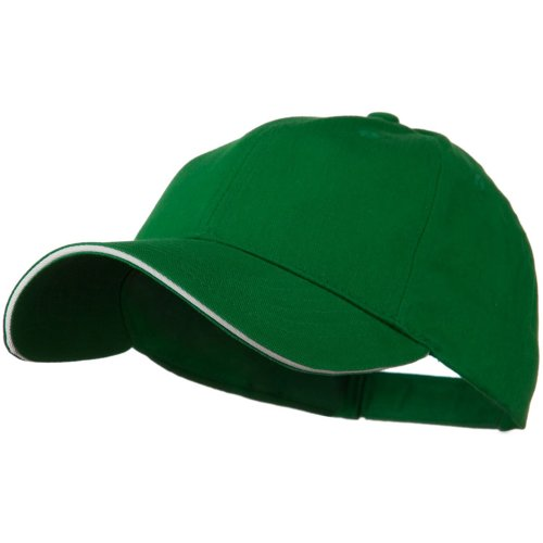 Low Profile Light Weight Brushed Twill Cap - Kelly Green White ()