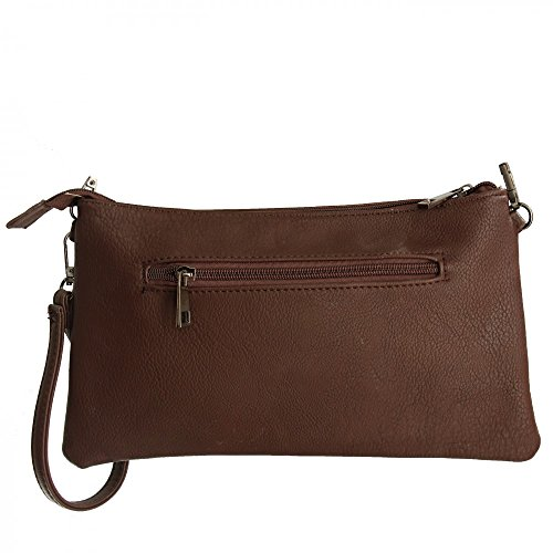Shopping-et-Mode - Cartera de mano para mujer marrón marrón