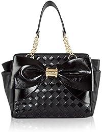 Side Pocket Bow Shoulder Satchel Handbag