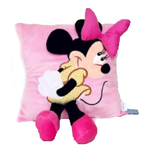 ZQQXV 35cm Creative 3D Mickey Mouse and Minnie Mouse Plush Pillow Kawaii Mickey and Minnie Plush Toys Kids Toys