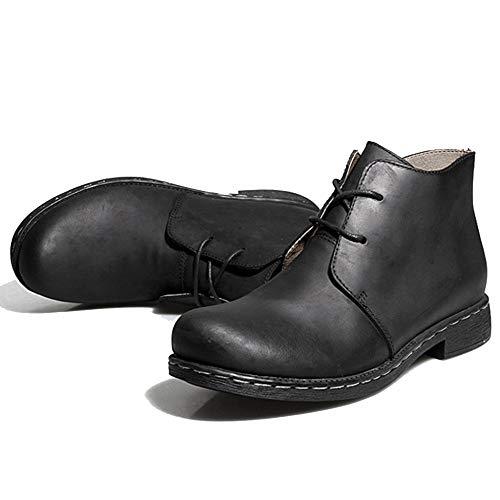 Boots Scarpe Fodera Trekking Black Lavoro Stivaletti Dimensioni Da Vera In Desert Mens Con Calzature Pile Pelle Grandi In Di For Lace Ups Da dq6FBHwFx7