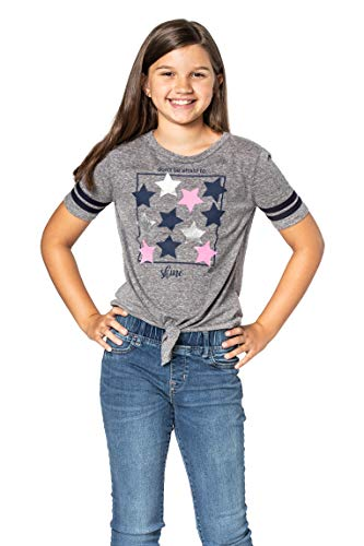 FASHION X FAITH Girls Shirts Tops - Dawn Crew Neck Tie-Front Tees Clothes, Made in USA 2