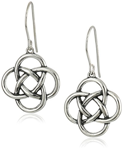 Sterling Silver Oxidized Celtic Earrings