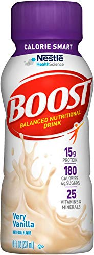 Boost Calorie Smart Very Vanilla Flavor 8 oz. Bottle Ready to Use, 12188056 – Case of 24