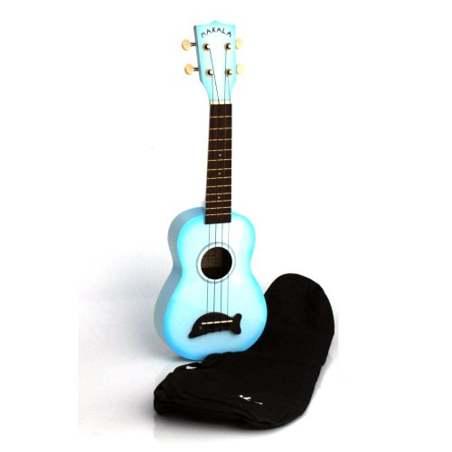 Makala MK-SDLBL Light Blue Burst Dolphin Bridge Soprano Ukulele