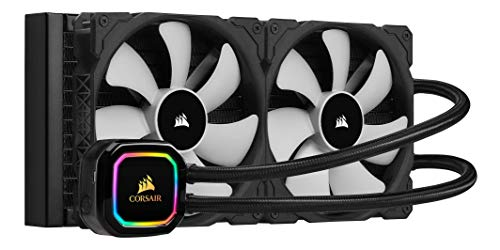 Corsair iCUE H115i PRO XT RGB Liquid CPU Cooler (280mm Radiator, Two 140mm Corsair ML Series PWM Fans, 400 to 2,000 RPM, Advanced RGB Lighting and Fan Control with Software, Easy to Install) Black