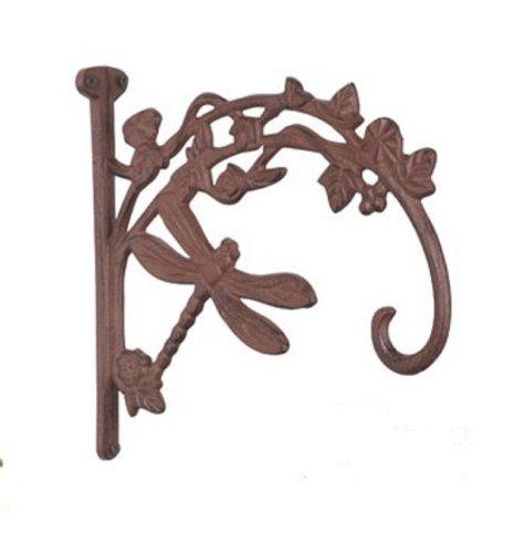 Dragonfly Plant Hanger brown bronze finish pot hook cast iron
