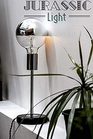 Lámpara cm mármol de negro E27 pie mesa diseño de 26 Rod dxrCBoe